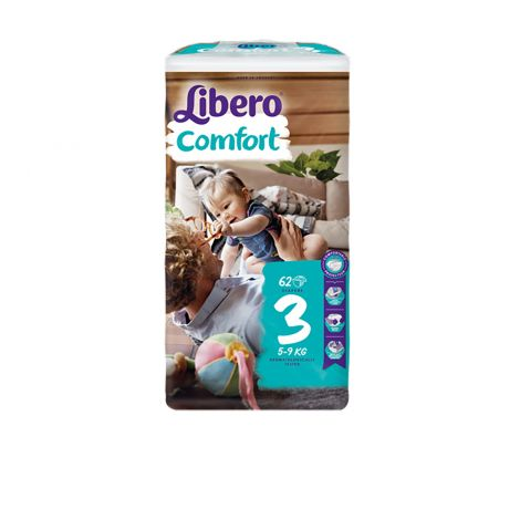LIBERO COMFORT KOKO 3 5-9 KG  62 KPL