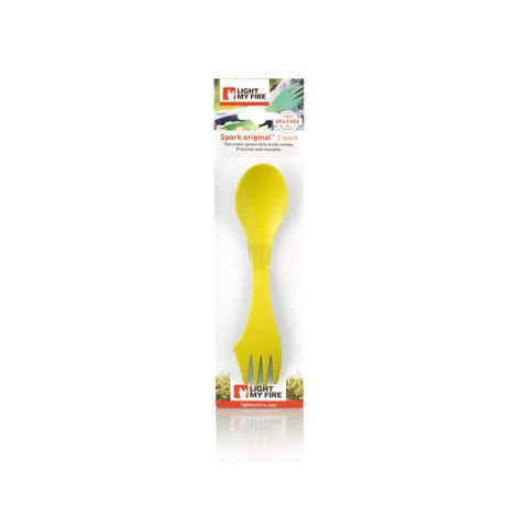 LIGHT MY FIRE SPORK O 2-PACK LIME+GREEN