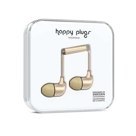HAPPY PLUGS IN-EAR NAPPIKUULOKKEET CHAMPAGNE