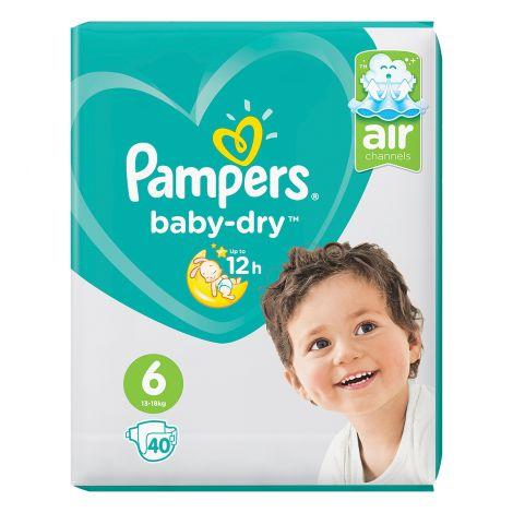 PAMPERS BABY DRY VAIPPA S6 13-18 KG 40KPL