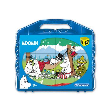 Clementoni 12 palaa Moomin kuutiopalapeli