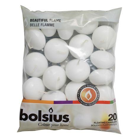 Bolsius valkoinen kellukynttilä 20kpl