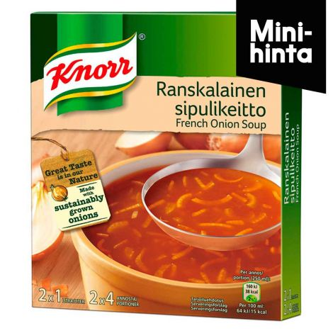 KNORR RANSKALAINEN SIPULIKEITTO 2-PACK 104G