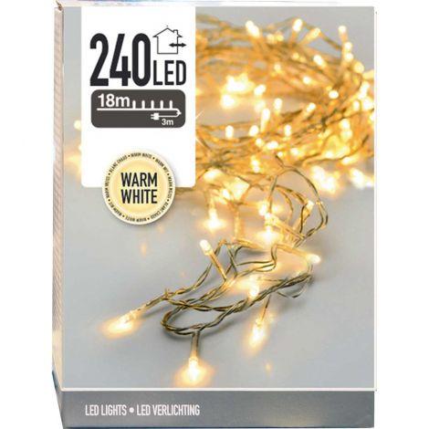LED 240 valosarja lämminvalk/kirkas johto, ulkokäyttöön