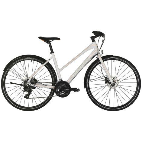 """Tunturi 28"""" Active naisten polkupyörä 24V 53cm, valkoinen/oranssi-harmaa"""