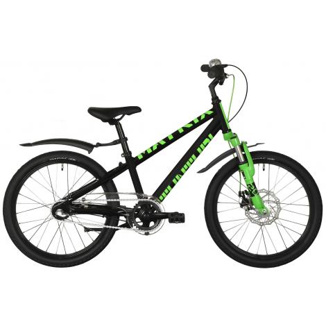 """Tunturi 20"""" Matrix lasten polkupyörä 3-V, musta/lime"""