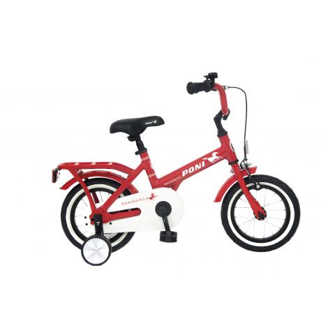 Tunturi 12-tuumainen Poni lasten polkupyörä 1-V, punainen