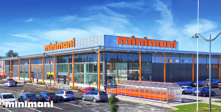 Minimanin myymälät: Jyväskylä, Kokkola, Lempäälä, Seinäjoki